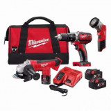 MILWAUKEE M18BSET2A-513B set flex+bormasina+ lanterna (2016)