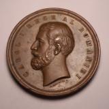 Medalie Regele Carol I - Concurs de agricultura si industrie 1881 Superba - Medalii Romania