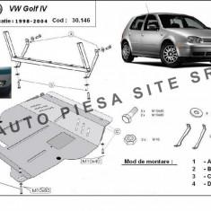 Scut metalic motor VW Golf 4 IV fabricat intre 1998 - 2004 cod APS-30, 146 - Scut motor auto