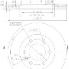 Disc frana fata ventilat Mercedes Sprinter fabricat incepand cu 06.2006 BREMBO cod 416- 09.9508.14 - Discuri frana