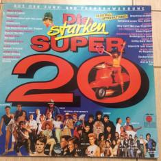 Various Die Starken Super 20 disc vinyl lp muzica disco pop rock hituri 1982, VINIL, ariola