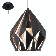 Pendul Vintage Carlton 1 Negru/Cupru 49254 - Corp de iluminat