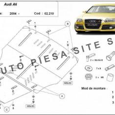 Scut metalic motor Audi A6 C6 fabricat intre 2004 - 2011 (fara laterale) cod APS- 02, 210 - Scut motor auto