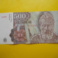 HOPCT ROMANIA 500 LEI 1991 X FINE- AUNC - APRILIE - Bancnota romaneasca