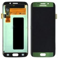 Display cu touchscreen Sam Galaxy S6 edge G925 Verde cu Rama Ori