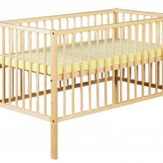 Pat lemn Radek X 120 x 60 cm Natur Klups - Patut lemn pentru bebelusi