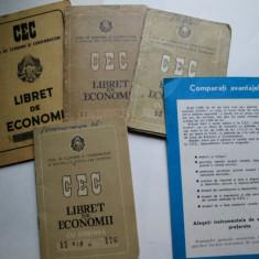 CEC ! Lot: 4 Libret / Carnet CEC, 1 reclama, 1 calendar, 1 fotografie rara - Cambie si Cec