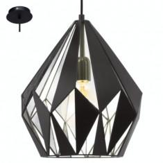 Pendul Vintage Carlton 1 Negru/Argint 49255 - Corp de iluminat