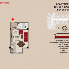 Garsoniera, Brasov, 2017, Mall Coresi, 35.65mp - Garsoniera de vanzare, 36 mp, Etajul 1