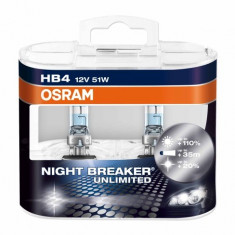 Bec Osram HB4 Night Breaker Unlimited (+110 lumina) 12V 51W cod 9006NBU