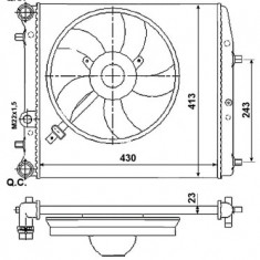 Radiator racire apa Skoda Fabia 6Y2 (08.99-12.07) ITN cod 01-2013SA
