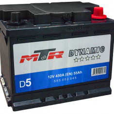 Acumulator Baterie auto Rombat MTR Dynamic L2 55 Ah 450A cod 555002045, 40 - 60