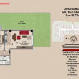 Apartament 2 camere Brasov, zona Tractorul, pret 62032 - Apartament de vanzare, 59 mp, Numar camere: 2, An constructie: 2017, Parter