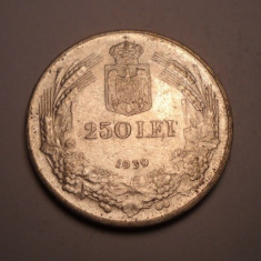 250 lei 1939 XF - Moneda Romania