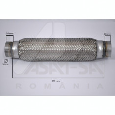 Racord tub flexibil toba esapament 50 x 300 mm ASAM cod 9850250 - Racord flexibil auto