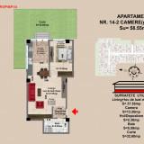Apartament 2 camere Brasov, zona Tractorul, pret 54435 - Apartament de vanzare, 59 mp, Numar camere: 2, An constructie: 2017, Parter