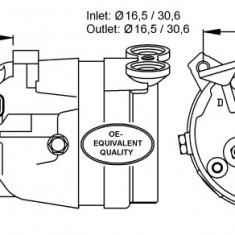 Compresor aer conditionat / clima NOU Opel Vectra A 04.88 - 11.95 ITN cod 34- AC-102 - Compresoare aer conditionat auto