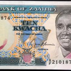 Bancnota 10 Kwacha - ZAMBIA nd *cod 724 UNC - bancnota africa, An: 2008