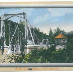 2833 - Valcea, CALIMANESTI, Bridge - old postcard - used - 1911 - Carte Postala Oltenia 1904-1918, Circulata, Printata