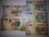 Madagascar set 100, 200,500, 1 000,2 000 Ariary 2017 UNC
