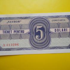 HOPCT TICHET PENTRU 5 DOLARI NAVROM CONSTANTA - UNC - RARA - Bancnota romaneasca