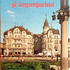 Pliant - Oradea si imprejurimi - Carte Postala Crisana dupa 1918, Necirculata, Printata