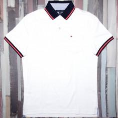 Tricou Polo TOMMY HILFIGER - Tricouri Barbati - 100% AUTENTIC - Tricou barbati Tommy Hilfiger, Marime: S, Culoare: Alb, Maneca scurta, Bumbac