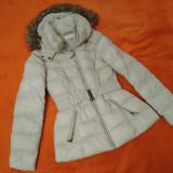 Geaca Femei CAMAIEU - Bej haina de fas de iarna-toamna femeie dama marimea 36