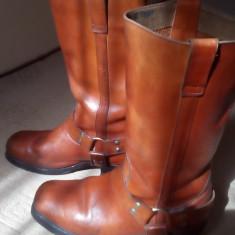Cizma piele barbati - Cizme barbati, Marime: 43, Culoare: Orange