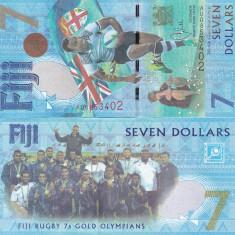 Fiji 7 Dollars 2016 UNC