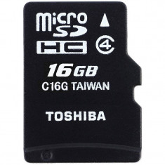 Card Toshiba microSDHC 16GB M102 Clasa 4 cu adaptor SD - Card memorie foto