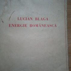 Vasile Bancila - Lucian Blaga. Energie romaneasca (1938)(semnatura si autograf)