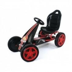 Kart Copii 4-8 Ani Hauck Go Hurricane Black&Red - Kart cu pedale