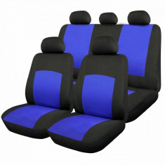 Huse Scaune Auto Fiat Seicento Oxford Albastru 9 Bucati - Husa scaun auto