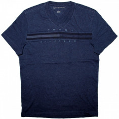 Tricou TOMMY HILFIGER - Tricouri Barbati - 100% AUTENTIC - Tricou barbati Tommy Hilfiger, Marime: S, Culoare: Bleumarin, Maneca scurta, Bumbac