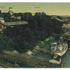 3088 - TURNU-SEVERIN, harbor, and ships - old postcard - used - 1910 - Carte Postala Oltenia 1904-1918, Circulata, Printata