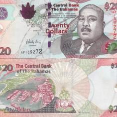 Bahamas 20 Dollars 2010 UNC - bancnota america