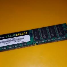 1GB DDR1 Desktop, 1x1GB, Brand Corsair, PC-3200, 400Mhz(3) - Memorie RAM