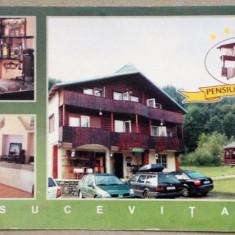 Sucevita - Pensiunea Memory - Carte Postala Bucovina dupa 1918, Necirculata, Printata
