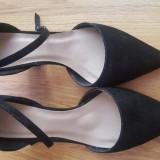 Sandale Asos negre noi 59 RON - Sandale dama Asos, Culoare: Negru, Marime: 37.5