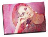 "Tablou pe metal striat ""Lana del Rey- A face to remember"""