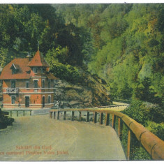 3969 - Gorj, Defileul Jiului - old postcard - used - Carte Postala Oltenia dupa 1918, Circulata, Printata