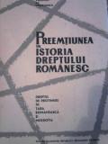 Valentin Al. Georgescu Preemtiunea (preemptiunea) in istoria dreptului romanesc