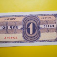 HOPCT TICHET PENTRU 1 DOLAR NAVROM CONSTANTA - UNC - RARA - Bancnota romaneasca