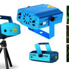 Mini proiector laser cu 2 diode: rosu si verde - Laser lumini club