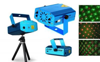 Mini proiector laser cu 2 diode: rosu si verde foto