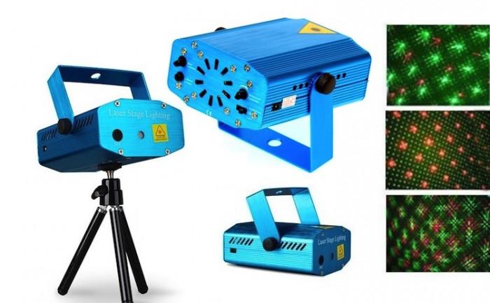Mini proiector laser cu 2 diode: rosu si verde foto mare