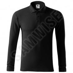 Tricou de Barbati Pique Polo LS (Culoare: Negru, Marime: XXL, Pentru: Barbati)