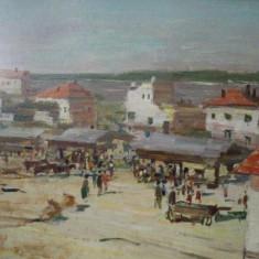 Targ pe malul Dunarii, nesemnat - Pictor roman