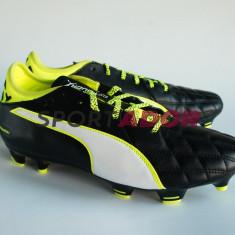 Ghete Puma evoTOUCH 3 Leather FG -41.5, 42.5, 43.5EU- piele, factura si garantie - Ghete fotbal Puma, Culoare: Negru, Barbati, Iarba: 1